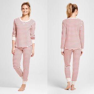 Gilligan & O'Malley Thermal Striped Pajama Set